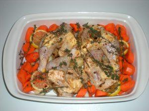 Healthy Lemon Thyme Roasted Chicken Dinner Recipe