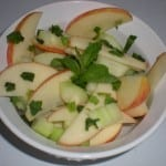 HCG Apple Cucumber Mint Salad