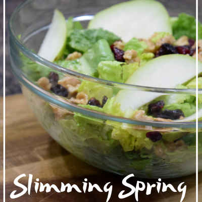 slimming spring garlantro salad