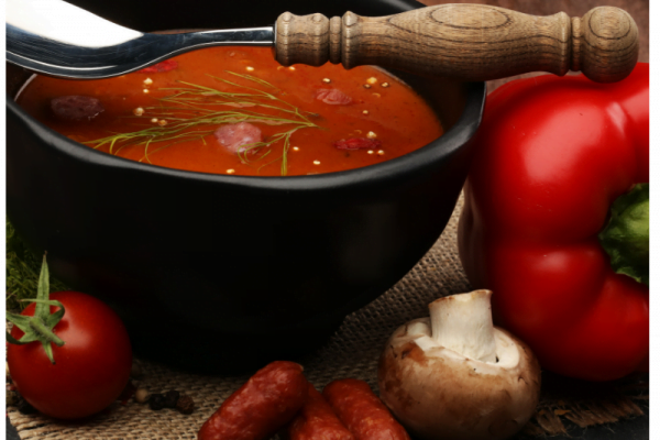 Fire-Roasted Red Pepper Soup
