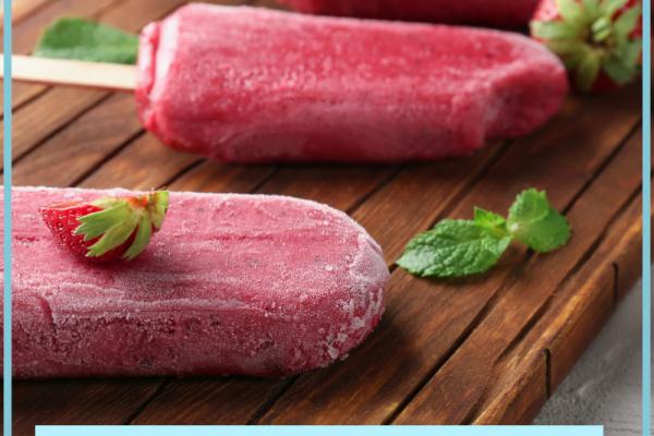 HCG Strawberries Sorbet Popsicle