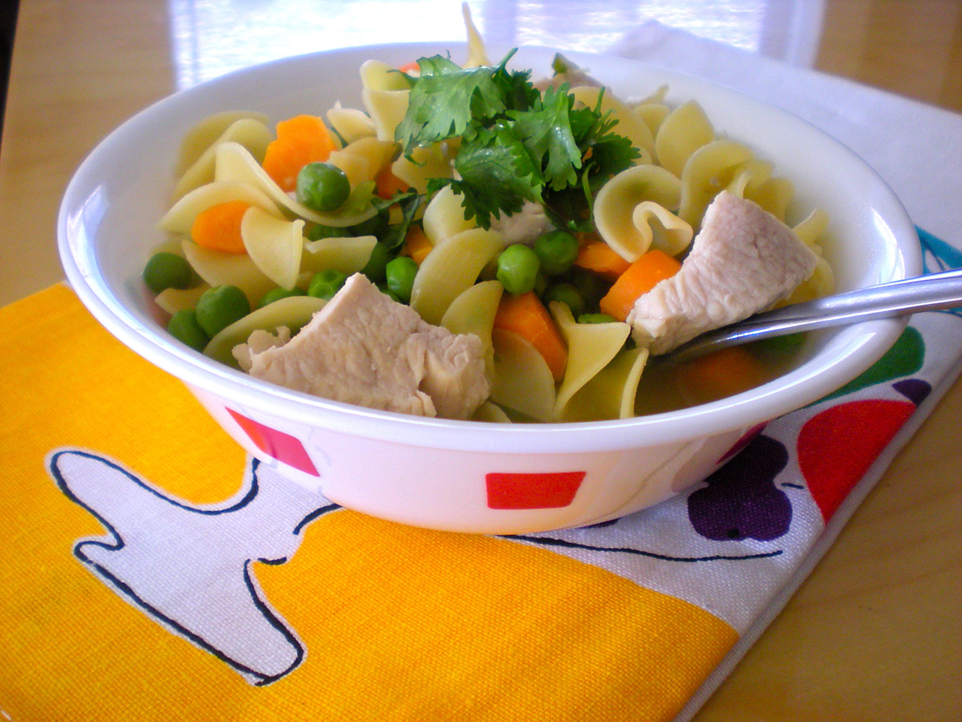 Chicken Noodle Pea Soup