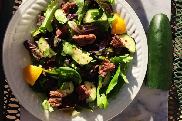 Thai Cucumber Steak Salad