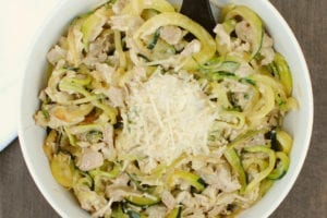 Chicken Alfredo with Zoodles